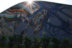 Street Art - drago alato (Beatrice - Lorella) Tags: controluce streetart drago