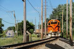 CSS 2007 @ Miller, IN (Michael Polk) Tags: chicago south shore bend railroad freight train eastbound emd gp382 miller gary indiana us 12