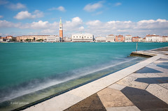 Turquoise Venice (pietkagab) Tags: venice veneto italy italian water canal landmark 10stop nd longexposure belltower island islands sky daylight europe european city town architecture pietkagab photography pentax pentaxk5ii piotrgaborek travel trip tourism sightseeing