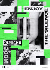Playlist-posters // Depeche Mode - Enjoy the Silence (inspiration_de) Tags: graphicdesign illustration poster silence typography