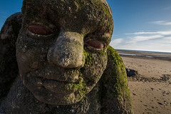 Beach(y) Head (subterraneancarsickblues) Tags: cleveleys lancashire seaside beach coast statue sculpture stone orge canon 6d eos6d 1635mm f4l lseries wide wideangle