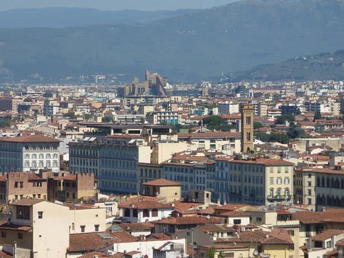 Florence skyline from Boboli Gardens - Kaffeehaus view: Palazzo di Giustizia