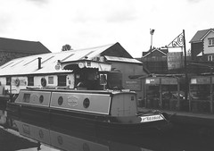 op - starline boat yard (johnnytakespictures) Tags: olympus pen ee3 ferrania filmferrania p30alpha p30 blackandwhite bw panchromatic film 35mm analogue nuneaton warwickshire river canal stream water nature natural boat boats ship ships longboat narrowboat canalboat starline yard industry industrial moor moored anchor anchored