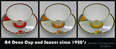 The Victoria and Albert Museum - Art Deco Ceramics (7, 7a & 7b) (Padski1945) Tags: londonscenes theva thevictoriaalbertmuseum vamuseum victoriaandalbertmuseum cromwellroad kensington southkensington london sw72rl britishmuseums londonmuseums museumsoflondon museumsofbritain museumsofgreatbritain ceramics artdecocupandsaucer