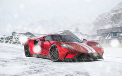 Ford GT Snow Storm (nike_747Original) Tags: naksphotographydsign ford gt snow storm ice bokeh landscape village rocks fence stones houses mountains supercar hypercar super hyper car sportscar sport class exotic rare luxury color auto limited edition roadlegal track racing race coupe roadster brembo ceramic carbon fiber light lamps flashes gt40 midengine v8 v 8 twinturbo ecoboost