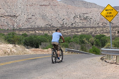 Get ready, get set... (twm1340) Tags: verdevalley clarkdale az arizona sign bicycle rider
