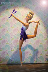 rhythmic gymnastics (photos4dreams) Tags: barbiefjb18 madetomove rhythmischesportgymnastin yoga barbie photos4dreams doll p4d photos4dreamz toy puppe dress mattel barbies girl play fashion fashionistas outfit kleider mode puppenstube tabletopphotography keulen keule