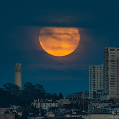 Full Moon - San Francisco (davidyuweb) Tags: full moon san francisco fullmoon sanfrancisco sfist 三藩市 coit toer coittower