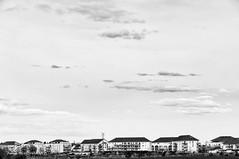 Cité dortoir (patoche21) Tags: bourgogne bourgognefranchecomte ciel cotedor chevignystsauveur europe france monochrome paysage urbain minimalisme nuage patrickbouchenard landscape urban cloud sky bw blackandwhite ville cité city town