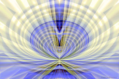Radiate (CaBAsk ♥Thank U for visiting ♥) Tags: abstract art olympus digital manipulation photoshop purple yellow mountain top radiate expression fantasy imagination rays hearts expansion peak spirit energy core symmetry geometric light faces golden mountains