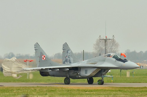 Polish Mig29 goiing back to his spot