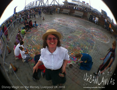Disney Magic 2016 (UrbanCanvas) Tags: disney cruise ship liverpool terminal chalking chalk bert screever mary poppins 2016 pavement art festival family floor chalks children street streetart sidewalk screeving painting public picture giant pastels drawing