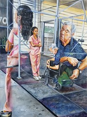 It's Not Linear (Nancy Polo) Tags: aging eldercare acrylicpainting portrait wheelchair