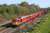 60015 Weaver Junction 18th April 2018 (John Eyres) Tags: 60015 coming off dutton viaduct weaver junction with 6f07 peak forest dallam sidings 180418