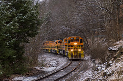 B&P HC-1 @ Rossiter, PA (Dan A. Davis) Tags: buffalopittsburgh bprr bp geneseewyoming gwrr sd403 sd452 sd70m2 sd402 freighttrain railroad locomotive train rochestermills rossiter pa pennsylvania