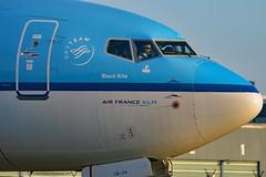 """Zwarte Wouw / Black Kite"" KLM Royal Dutch Airlines PH-BGR Boeing 737-7K2 Winglets cn/39446-3728 @ Taxiway Q EHAM / AMS 07-11-2017 (Nabil Molinari Photography) Tags: zwartewouwblackkite klm royal dutch airlines phbgr boeing 7377k2 winglets cn394463728 taxiway q eham ams 07112017"