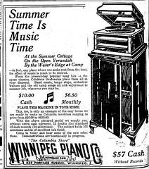 Winnipeg Piano Company Advertisement, 1914 (vintage.winnipeg) Tags: winnipeg manitoba canada vintage history historic advertisement
