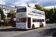 National Union of Students (non-PSV) GOG 596N (SelmerOrSelnec) Tags: nationalunionofstudents nus daimler fleetline parkroyal gog596n nonpsv manchester piccadillygardens exhiunit westmidlandspte bus