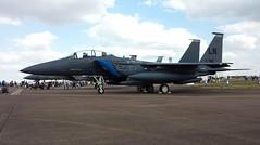 Strike Eagle. F15. (aitch tee) Tags: july2018 royalinternationalairtattoo militaryairshow staticdisplay usaf riat2018 militaryaircraft usairforce f15estrikeeagle raffairford englandgb