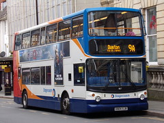 Stagecoach Midlands TransBus Trident (TransBus ALX400) 18127 KN04 XJB on route 9A to Duston (Alex S. Transport Photography) Tags: bus outdoor road vehicle northampton drapery stagecoach stagecoachmidlandred stagecoachmidlands euro5 trident transbustrident alexanderalx400 alx400 transbusalx400 route9a double decker 18127 kn04xjb