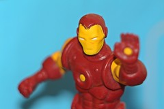 Iron Man (oddbodd13) Tags: ironman superhero tonystark marvel toy actionfigure macro plastic red yellow
