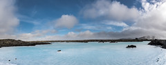 Blue lagoon (c.bouvard) Tags: panoramique panorama landscape water nuages bluelagoon lagoon iceland islande