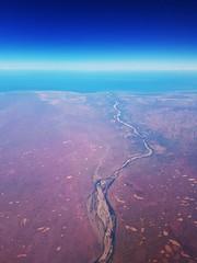To the sea (Paul Threlfall) Tags: westernaustralia throughawindow wa flight fokker100 indianocean seasonalriver arid