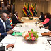 President Cyril Ramaphosa holds a bilateral meeting with President Emmerson Mnangagwa