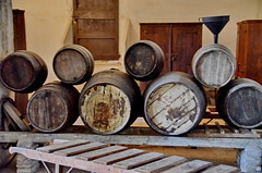 Wine Cellar in a Monastery (gerard eder) Tags: world travel reise viajes europa europe españa spain spanien monasterio monastery kloster cellarwine cellarbarcelonainteriorbarrelwine barrel