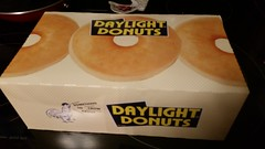Daylight Donuts - Something To Crow About (Adventurer Dustin Holmes) Tags: box dozendonuts donuts doughnuts container daylightdonuts somethingtocrowabout package packaging lebanonmo lebanonmissouri ozarks missouri dining 2018