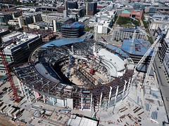 Chase Center - future home, Golden State Warriors (samayoukodomo) Tags: dronepointofview drone dronephotography aerialview aerialphotography takingthedroneouttogethigh quadcopter djimavicpro mavicpro birdseyeview droneview aerial