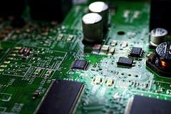 Inside Cisco IP Telephone (Tanja-Milfoil) Tags: platte elektronische elektro board platine 080718 milfoil tanja nikon telefon telephone cisco ip makro macromondays insideelectronics macromonday