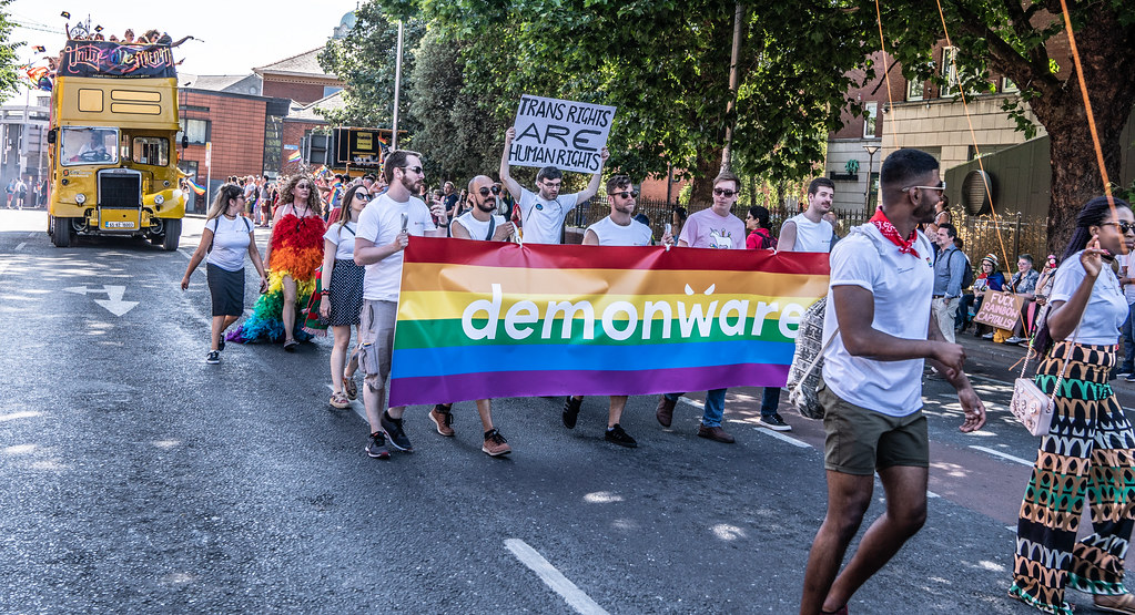 ABOUT SIXTY THOUSAND TOOK PART IN THE DUBLIN LGBTI+ PARADE TODAY[ SATURDAY 30 JUNE 2018] X-100139