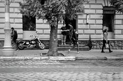 Street scene. (Ігор Кириловський) Tags: street scene 135 35mm bw kyrylovskyy kirilovskiyigor holovnastr chernivtsi ukraine viewfinder agfaoptima1035sensor agfa solitars40mmf28 film kodak400tmax rodenstockyellowmedium8 markstudiolab