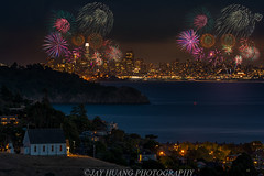 Happy 4th! (Jaykhuang) Tags: july42018 independentday fireworks celebrations tiburon church marin downtown sanfrancisco bayarea buildings transamericabuilding jayhuangphotography