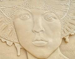 Face of sand (Körnchen59) Tags: gesicht face woman sand skulptur künster bremen waterfront körnchen59 elke körner pentax ks2