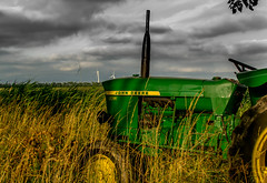 John in North Holland (reginakuipers) Tags: landscape holland johndeere northholland tractor noordholland