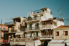 Balconies (Hud1ai2) Tags: greece houses street morning sunrise balcony roofaholic colorful zakynthos zante roofs traveling travel townscape complexity exploring