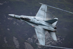 CF18 Hornet (AdrianH Photography) Tags: nikon nikon300mmf4pfvr aviation aeroplanes wales corris jets machloop