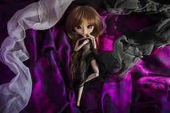 Purple insinuation (Erla Morgan) Tags: doll pullip pullipsouseiseki souseiseki souki erlamorgan groove junplanning obitsu wig purple black white light 52dollyweekproject 52weeksproject