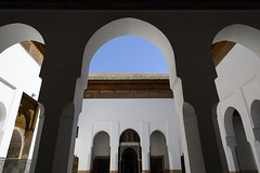 Archways (Darren Poun) Tags: marrakesh marrakech medina darsisaid morocco africa arabic arab architecture islam islamic archway symmetry traveling nikon d800 d800e nikkor24mm f14