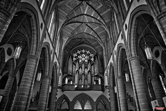 Christ Church Cathederal (MBates Foto) Tags: arch architecture availablelight blackandwhite cathederal existinglight indoors monochrome nikkorlens nikon nikond810 nikonfx victoria britishcolumbia canada