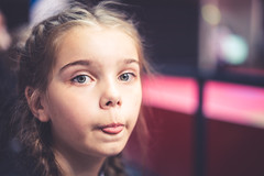 DSC04463 (Miika Järvinen) Tags: sel55f18z portrait female woman girl indoors tongue silly