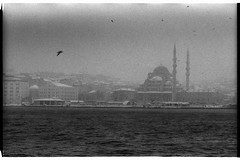 Eminonu in snowy winter (Alimkin) Tags: turkey istanbul стамбул турция пленка lomography film чб bw analogfilm alimkin analogphotography bnw believeinfilm blackandwhite bosphorus canon city cityscape filmisnotdead filmphotography filmforever filmshooters grayscale kodaktmax kodak trip travelphoto ng ngs ngc winter