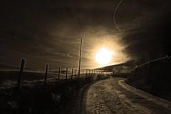 Follow the sun (alestaleiro) Tags: foolowthesun sun sol sepia mono monochrome sole camino path sendero trilha ruta estrada way countryside campo morning morn alestaleiro
