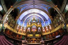 Fisheye Notre Dame Basilica Interior (Jemlnlx) Tags: canon eos 5d mark 4 5d4 5div montreal quebec canada cda notre dame basilica cathedral catholic church ef 15mm f28 fisheye lens interior inside