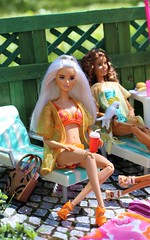 Platinum Pop MTM orange bikini (Annette29aag) Tags: barbie doll fashionista pool poolparty model madetomove photography portrait