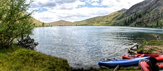 Kayaks and Fishing (joe Lach) Tags: joelach kayaks fishing convictlake alpine sierranevada mammothlakes inyonationalforest california monocounty trees mountain colorful boy boyfishing panoramic panorama
