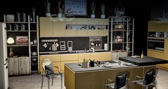 Modern Living - Kitchen Interiorscape (by Epifania Nhafiero) Tags: secondlife kitchen interiordesign trompe secondspaces loft ltdcushion aria abiss whatnext cooking foodie