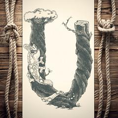 Uhameleon (reXraXon) Tags: art artwork pencilart drawing handdrawing sketch pencilsketch typography lettering handlettering letteringart chameleon tree